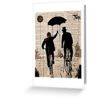 the umbrella Greeting Card