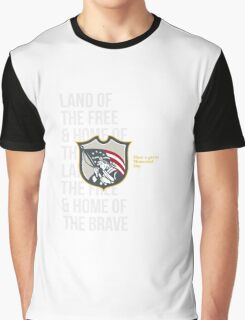 Memorial Day Greeting Card Patriot Holding American Flag Graphic T-Shirt