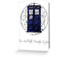 Time And Relative Demention In Space Greeting Card