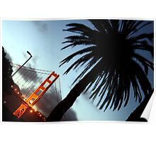 Golden Gate at Dusk Poster
