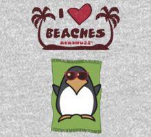 I love Beaches One Piece - Short Sleeve
