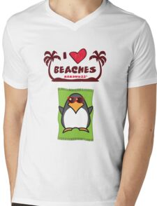 I love Beaches Mens V-Neck T-Shirt