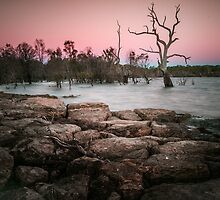 The Magical Lake Lonsdale at Sunset by Julie Begg