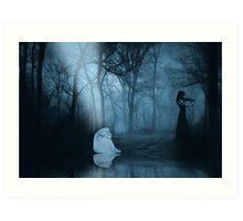 So Gone - Dark Fantasy Forest Art Print