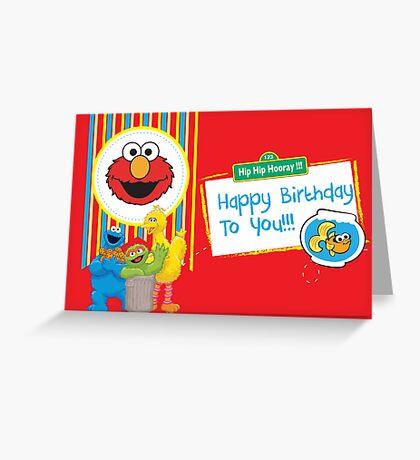 Sesame Street Birthday Card Greeting Card