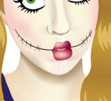 creepy doll Sticker