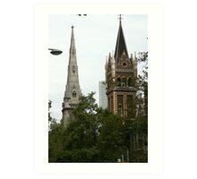 Battle of the spires Art Print