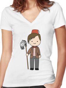 Eleventh Doctor Pandorica Kawaii Cartoon Design Women's Fitted V-Neck T-Shirt