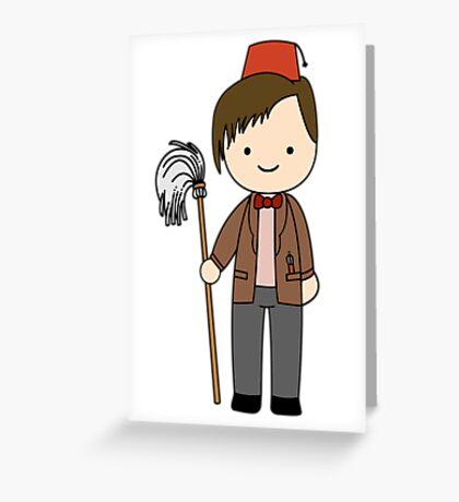 Eleventh Doctor Pandorica Kawaii Cartoon Design Greeting Card