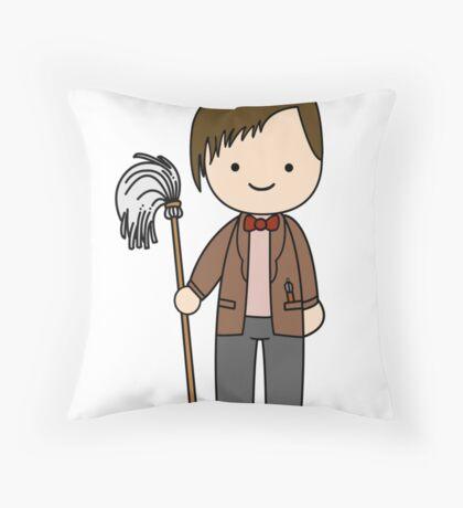 Eleventh Doctor Pandorica Kawaii Cartoon Design Throw Pillow