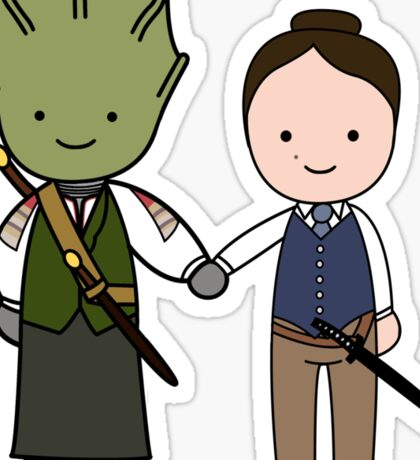 Vastra & Jenny Kawaii Cartoon Design Sticker