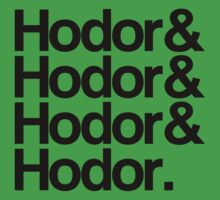 Hodor Helvetica Kids Clothes