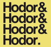 Hodor Helvetica Kids Clothes