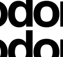 Hodor Helvetica Sticker