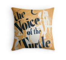 "Day 179 | 365 Day Creative Project  ""The Voice of the Turtle"" Throw Pillow"