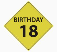 Birthday Road Sign 18 Kids Tee