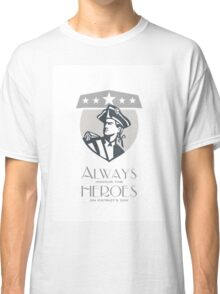Patriots Day Greeting Card American Patriot Looking Up Classic T-Shirt