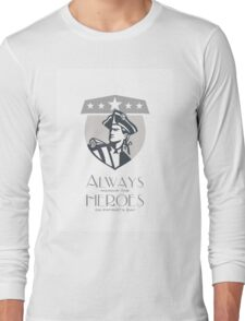 Patriots Day Greeting Card American Patriot Looking Up Long Sleeve T-Shirt