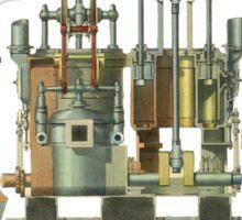 Vintage steam engine Sticker