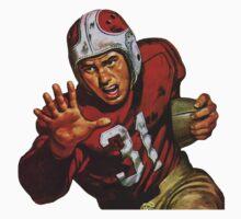 Vintage football player by kustom