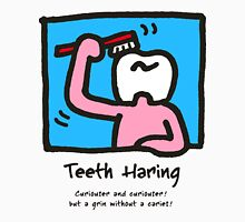 Teeth Haring_A (color) Unisex T-Shirt