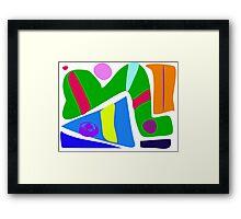 Green Caterpillar Framed Print