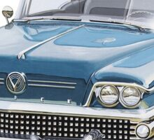 Vintage Buick car  Sticker