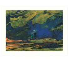 Spain - La Mancha de Noche Art Print