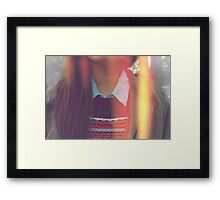 Lovely Collarful  Framed Print