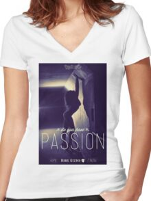 Passion [Retro] Women's Fitted V-Neck T-Shirt