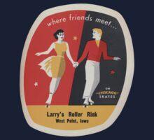 Vintage roller skate Iowa by kustom