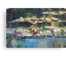 Lily Pond close up 1 Canvas Print