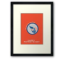 Patriots Day Greeting Card American Patriot Soldier Flag Circle Framed Print