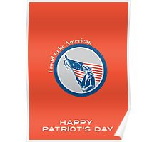 Patriots Day Greeting Card American Patriot Soldier Flag Circle Poster