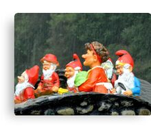 Two Joyous Gnomes and a Weird Hare Canvas Print