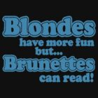 Blondes vs Brunettes by VirtualMan