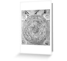 Old black and white vintage world's map Greeting Card