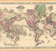 vintage map of the world by ModernFaces