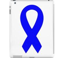Blue Awareness Ribbon iPad Case/Skin