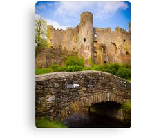 Ruined Castle at Laugharne Canvas Print