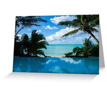 Honeymoon View, Rarotonga. Greeting Card