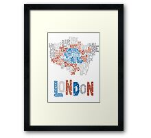 London Boroughs in Type Framed Print