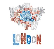 London Boroughs in Type Photographic Print