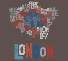 London Boroughs in Type Kids Clothes