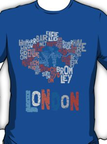 London Boroughs in Type T-Shirt