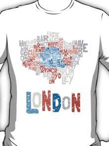 London Boroughs in Type T-Shirt