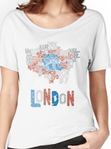 London Boroughs in Type Women's Relaxed Fit T-Shirt