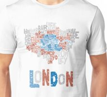 London Boroughs in Type Unisex T-Shirt