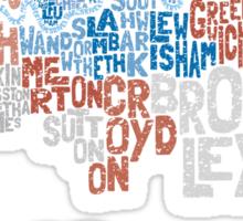 London Boroughs in Type Sticker