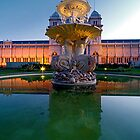 Exhibition building fountain by collpics